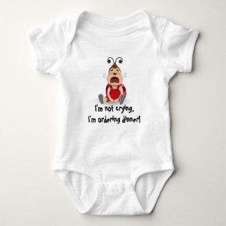 Body Para Bebê Eu não estou gritando, eu estou pedindo o bodysuit