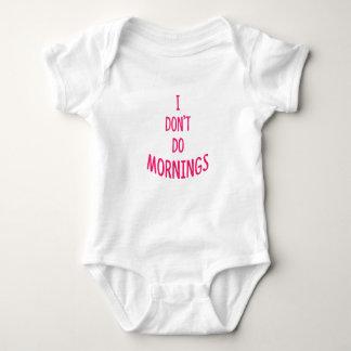 Body Para Bebê Eu não faço manhãs! Citações engraçadas