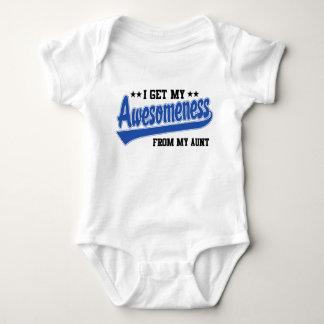 Body Para Bebê Eu obtenho meu Awesomeness de minha tia