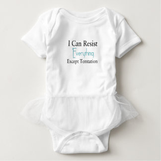 Body Para Bebê Eu posso resistir tudo exceto a tentação