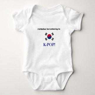 Body Para Bebê Eu preferencialmente estaria escutando KPOP!