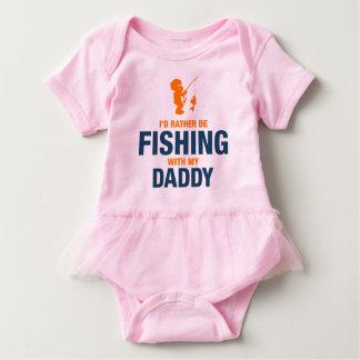 Body Para Bebê Eu preferencialmente estaria pescando com meu pai