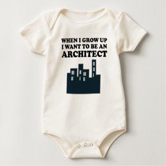 Body Para Bebê Eu quero ser um arquiteto