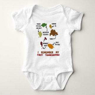 Body Para Bebê Eu recordo minha primeira acção de graças