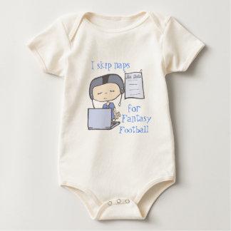 Body Para Bebê Eu salto sestas para o azul do futebol da fantasia