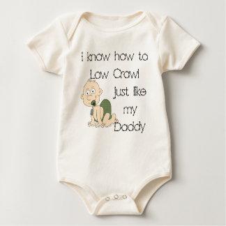 Body Para Bebê Eu sei ao baixo rastejamento apenas como meu pai