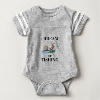 Body Para Bebê Eu sonho da pesca