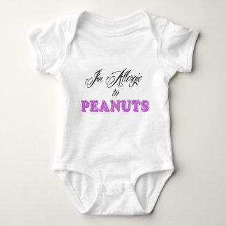 Body Para Bebê Eu sou alérgico aos AMENDOINS