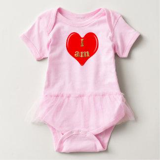 Body Para Bebê Eu sou amor, mim sou dentro do coração. Flor de