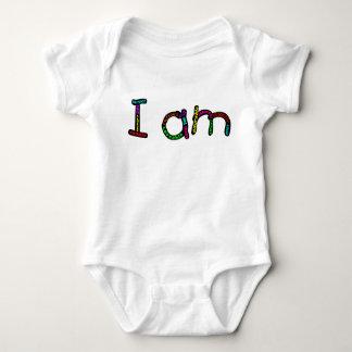 Body Para Bebê Eu sou bodysuit do jérsei do bebê
