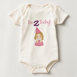 Body Para Bebê Eu sou DOIS hoje!  Princesa Projeto