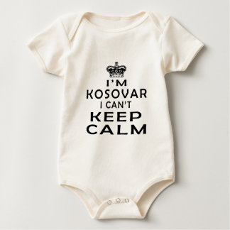 Body Para Bebê Eu sou kosovar mim não posso manter a calma