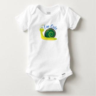 Body Para Bebê Eu sou luz bonito - caracol verde