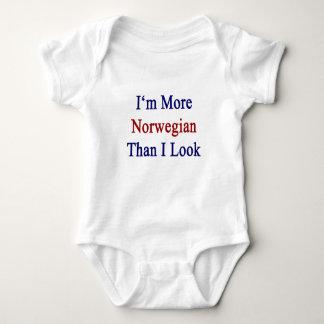 Body Para Bebê Eu sou mais norueguês do que eu olho