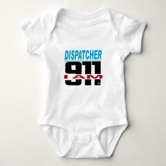 Body Para Bebê Eu sou material de 911 logotipos para o fogo, EMS,
