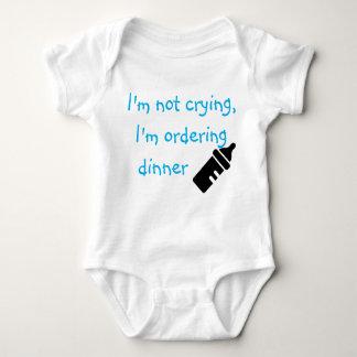 Body Para Bebê Eu sou não gritando mim estou pedindo o azul do