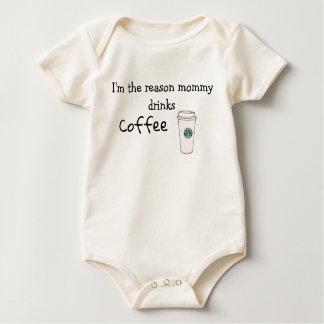 Body Para Bebê Eu sou o café das bebidas das mamães da razão