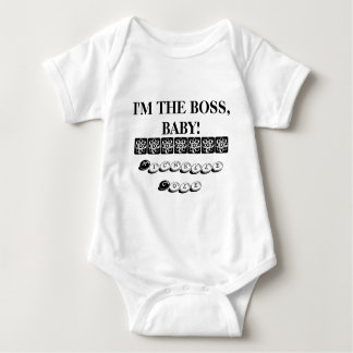 Body Para Bebê Eu sou O CHEFE, BEBÊ!