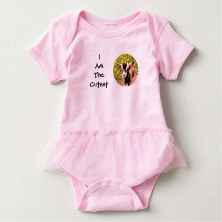 Body Para Bebê Eu sou o miúdo o mais bonito (a foto da cabra do