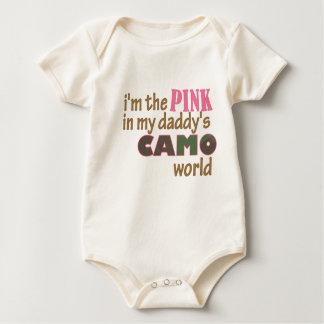 """Body Para Bebê """"Eu sou o rosa Creeper no mundo do camo do meu"""