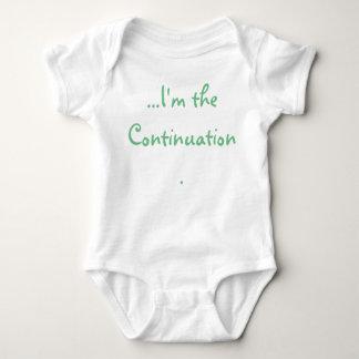 Body Para Bebê Eu sou o tshirt do bebê da continuação