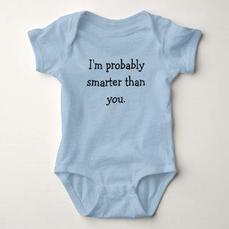 Body Para Bebê Eu sou provavelmente mais esperto do que você