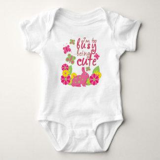 Body Para Bebê Eu sou ser demasiado ocupado coelho bonito e