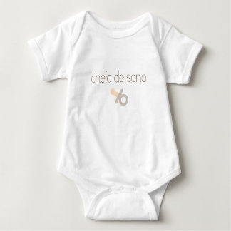Body Para Bebê Eu sou sonolento (no português)
