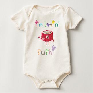 Body Para Bebê Eu sou t-shirt do sushi de Lovin