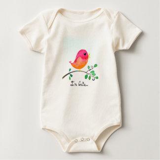 Body Para Bebê Eu sou terno cor-de-rosa bonito do corpo do bebê