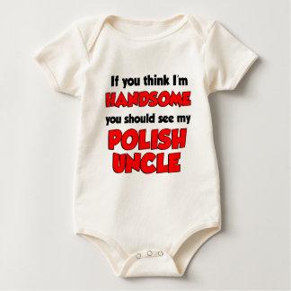 Body Para Bebê Eu sou tio polonês considerável