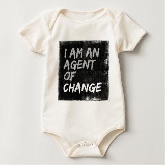 Body Para Bebê Eu sou um agente da mudança
