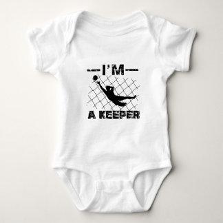 Body Para Bebê Eu sou um depositário - design do guarda-redes do