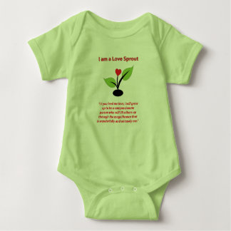 Body Para Bebê Eu sou um terno do corpo do Sprout do amor