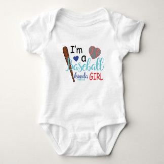 Body Para Bebê Eu sou um tipo do basebol da menina