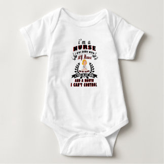 Body Para Bebê Eu sou uma enfermeira que eu era nascido com um
