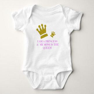 Body Para Bebê Eu sou uma princesa & minha mamã é o Bodysuit da