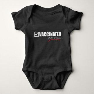Body Para Bebê Eu sou vacinado. Você é bem-vindo