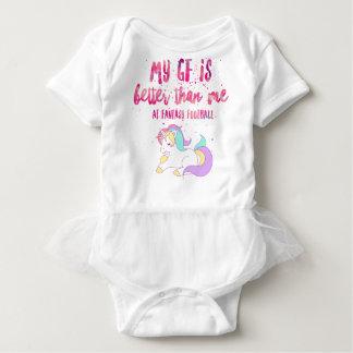 Body Para Bebê Eu sugo em T-S unisex da Curto-Luva do futebol da