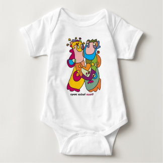Body Para Bebê eu te amo arte ingénua do casal