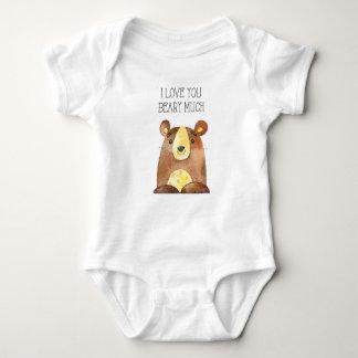 Body Para Bebê Eu te amo Beary muito, bebê do urso da floresta