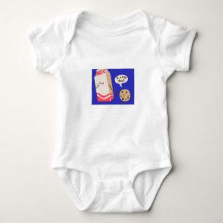 Body Para Bebê Eu te amo leite (Bodysuit do jérsei do bebê)