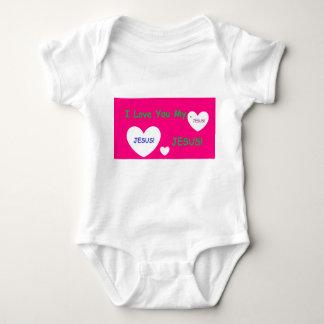 """Body Para Bebê """"Eu te amo Romper do bebê do meu Jesus"""""""