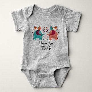 Body Para Bebê EU TE AMO roupa do bebê das TONELADAS - AMOR dos