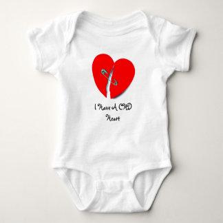 Body Para Bebê Eu tenho um coração de CHD