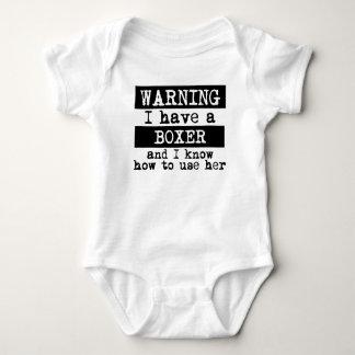 Body Para Bebê Eu tenho um pugilista e eu sei usá-la