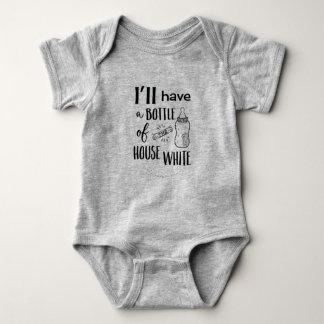 Body Para Bebê Eu terei uma garrafa do branco Onezee da casa