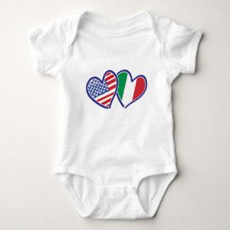 Body Para Bebê EUA---Italia-Amor