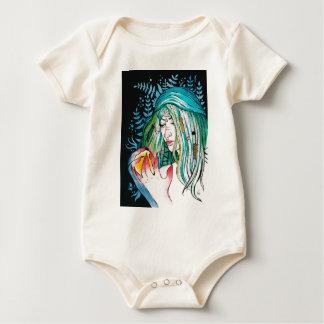 Body Para Bebê Evergreen - retrato da aguarela
