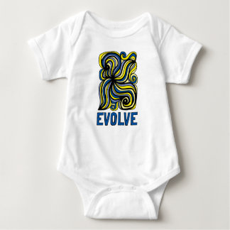 "Body Para Bebê ""Evolua"" o Bodysuit do jérsei do bebê"